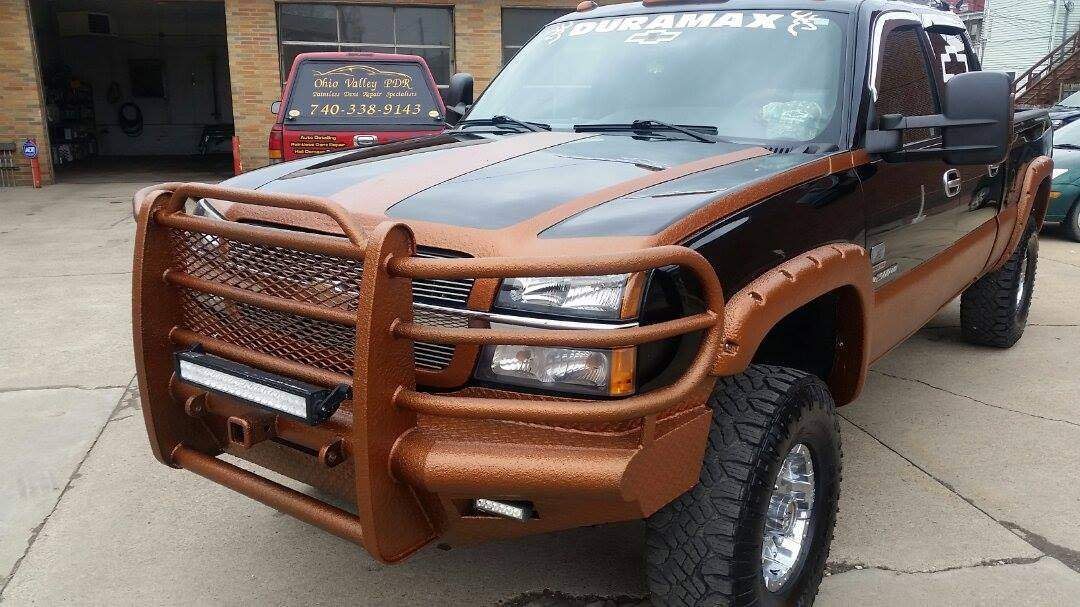 Truck coated with ArmorThane Corvette orange1.jpg