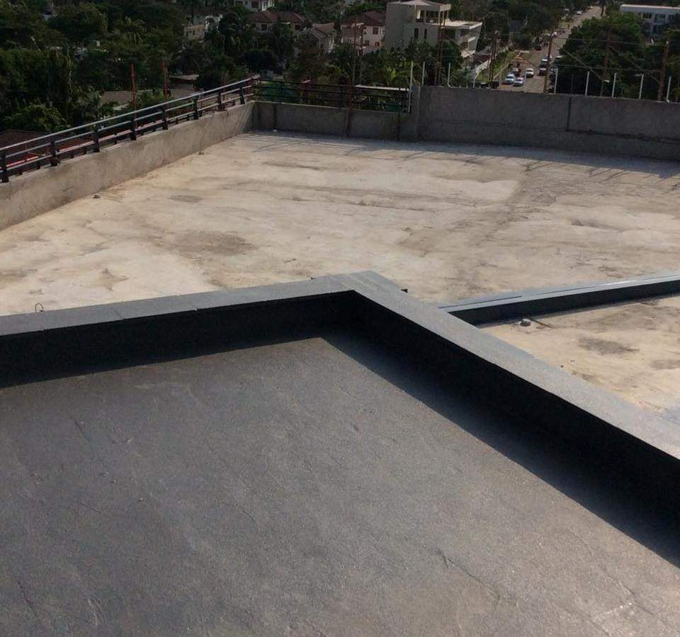 ArmorThane Ghana coating the roof decks at Hospital.jpg