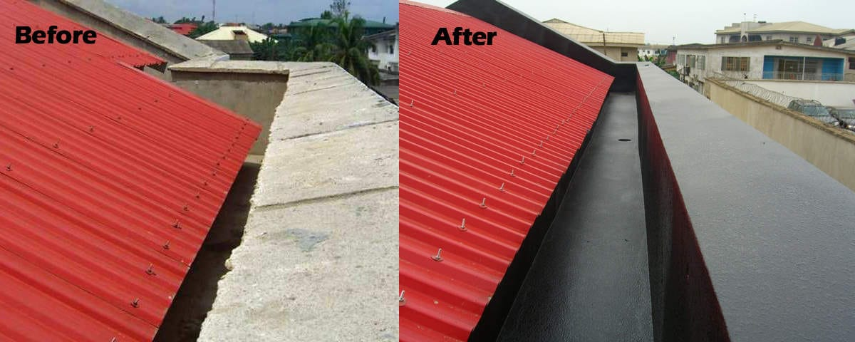 Coated Roof Gutter Before-After ArmorThane.jpg