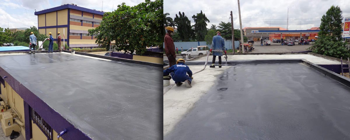 Spraying Reception Deck at Cadbury Nigeria Limited.jpg