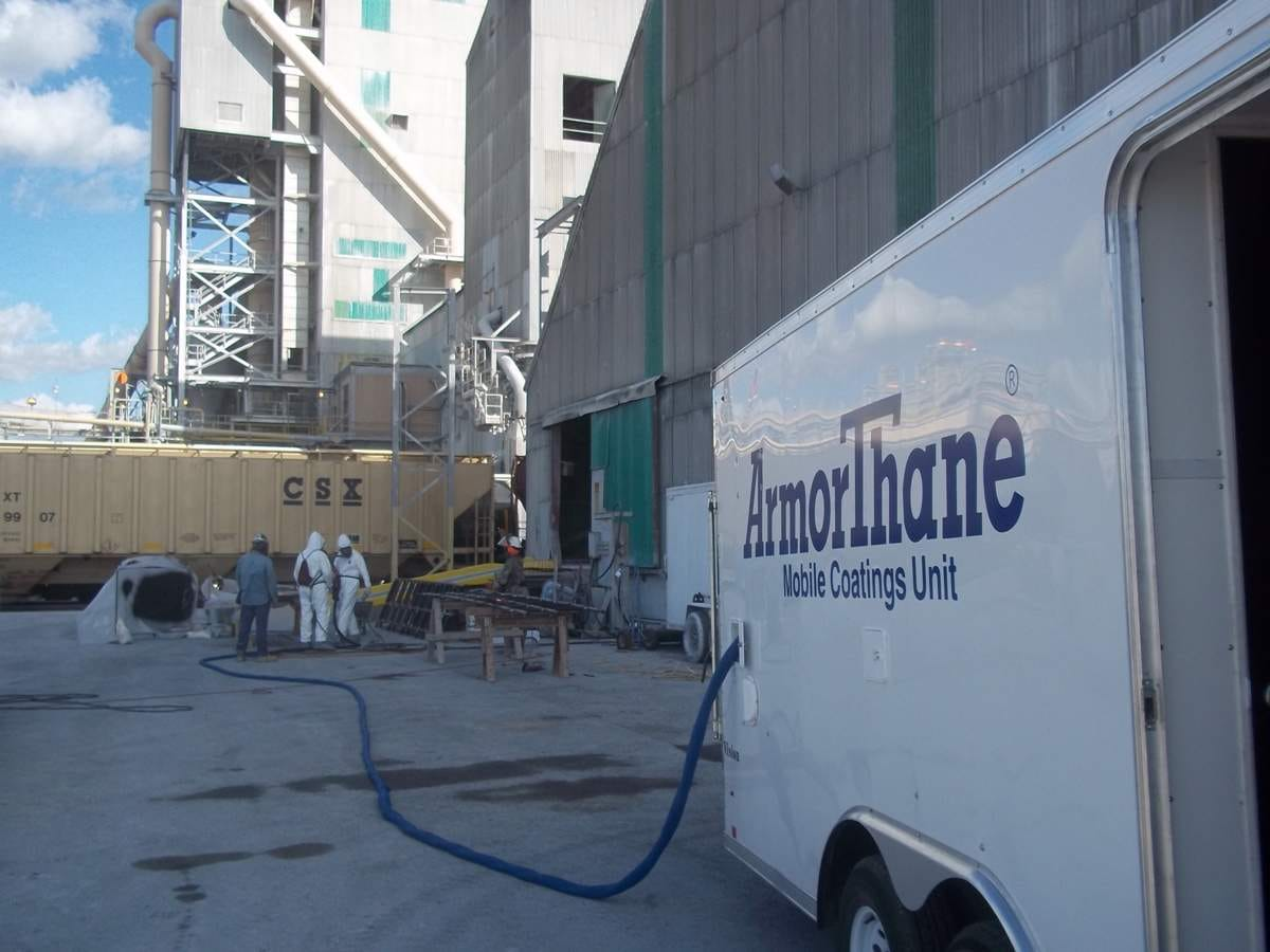 Jobsite coatings with ArmorThane customized Mobile Coatings Unit.JPG