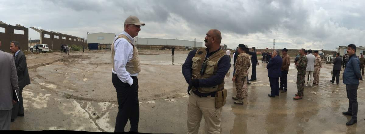 Garry at Baghdad test site.JPG