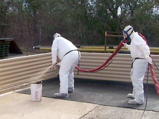 Secondary containment pit coating