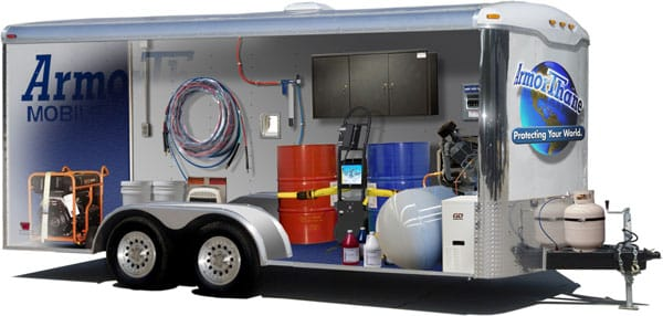 Mobile Spraying Systems On A Trailer