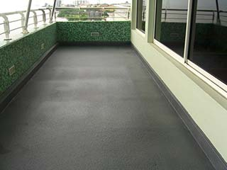 Concrete Coatings Coated concrete terrace