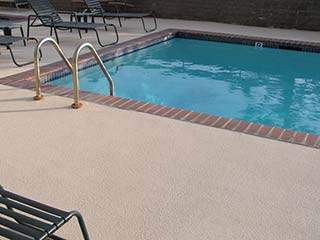 Concrete Coatings Decorative concrete deck