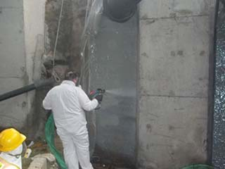 Concrete Coatings Spraying concrete  culvert
