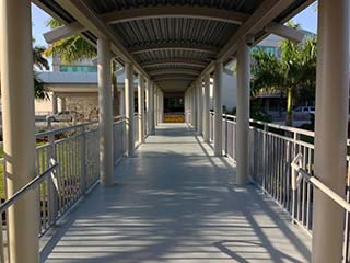 Protective Outdoor Coatings Concrete walkway