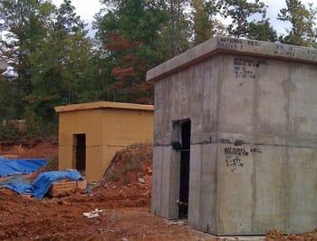NSA Training Bunker Sprayed with ArmorThane Coating
