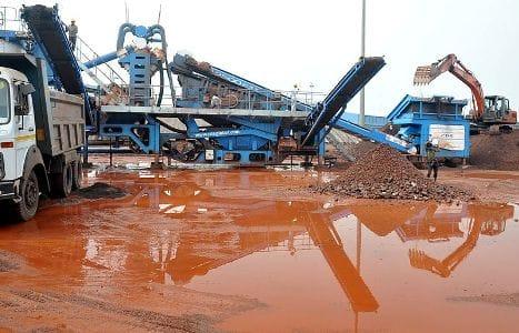 Washing plant for iron ore