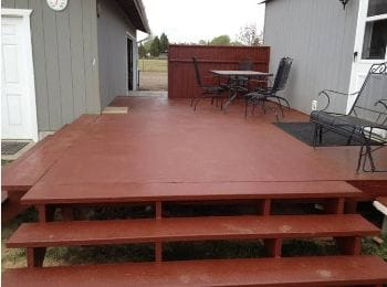 Wood Deck with Permanent Finish