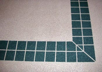 Faux tiles with polyurethane coating