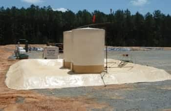 Tank coating and secondary containment backup