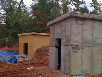 Training Bunkers with ArmorThane Grenade-Resistant Coating