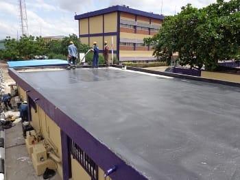 Leak repair on concrete roofs