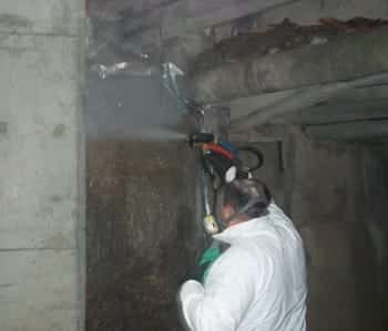 ArmorThane spraying stormwater culvert for spraying demonstartion