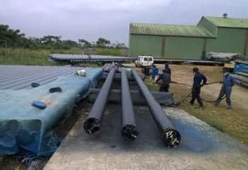 Natural gas pipeline coating