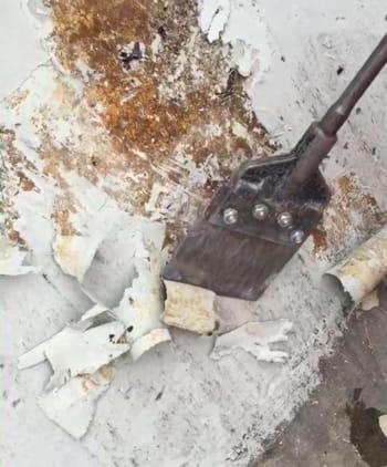 Scraping then powerwashing