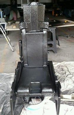 ArmorThane STS-300 coating on F16 jet seat
