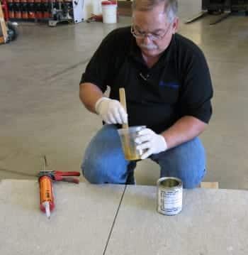 Demo on Concrete Crack Repair