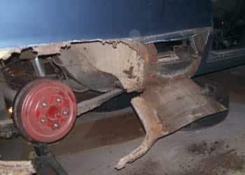 Car damaged with rust
