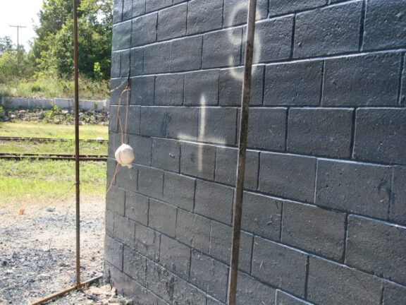 ArmoBlast coated wall