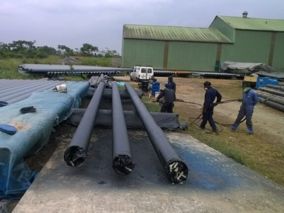 ArmorThane coated pipes