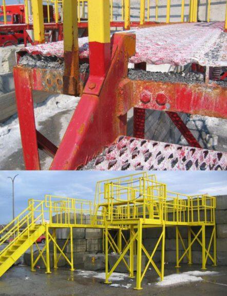 ArmorThane coated salt tower