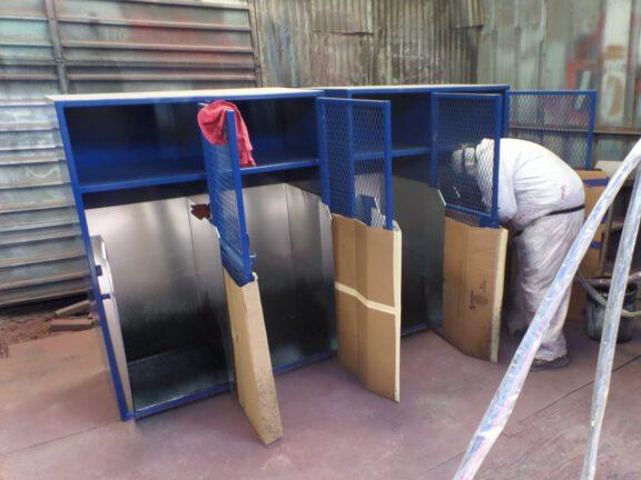 ArmorThane coating lockers