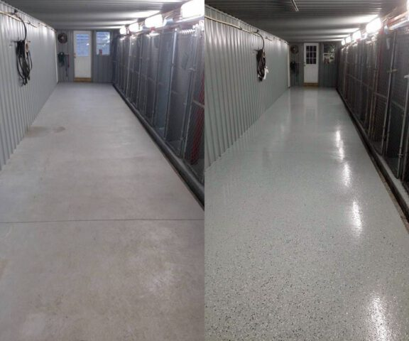 Before After concrete floors