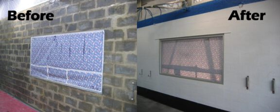 Cement block wall coating
