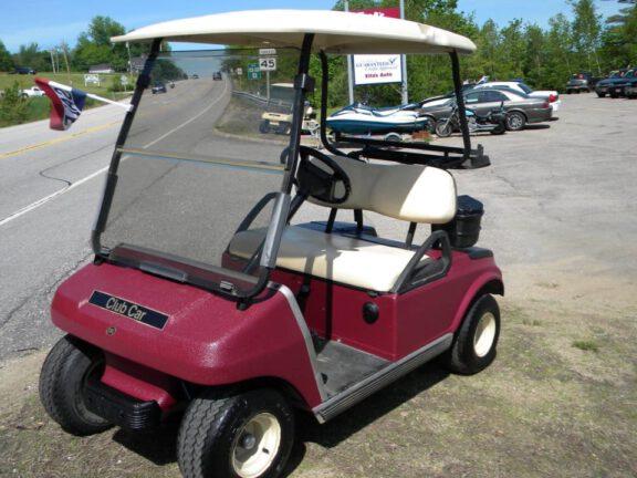 Coated golf cart
