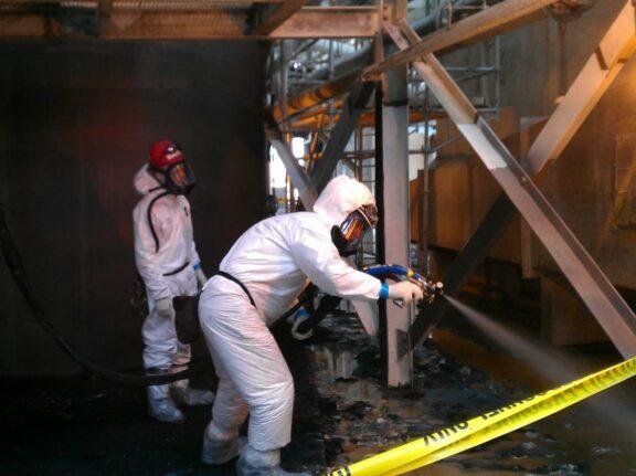 Coating Steel Beams with ArmorThane