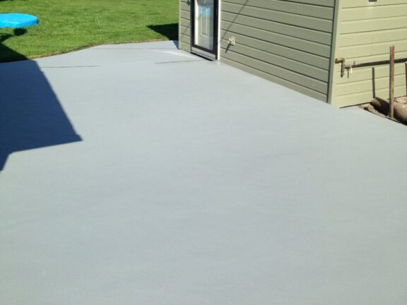 Concrete patio finished with ArmorThane