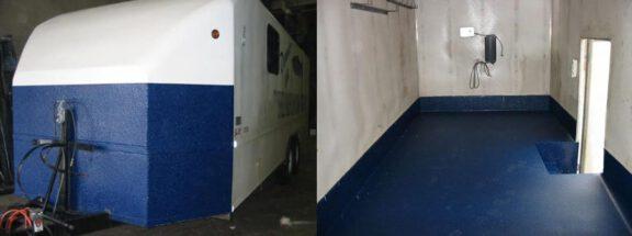 Exterior and floor trailer coating