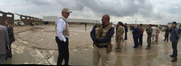 Garry at Baghdad test site