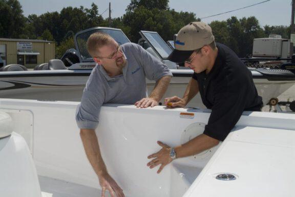 Inside boat coating