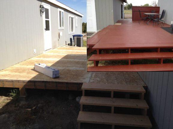 Permanent porch coating