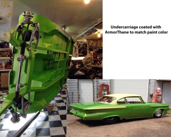 Restoring car with ArmorThane green coating