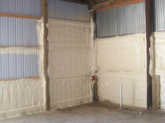 Spray foam insulation sealing