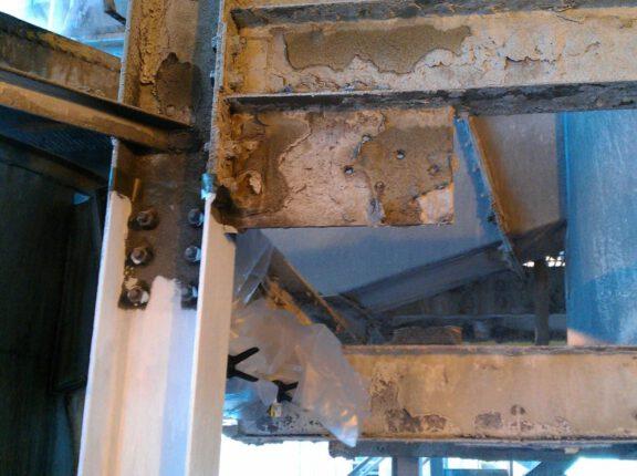 Steel beam corrosion