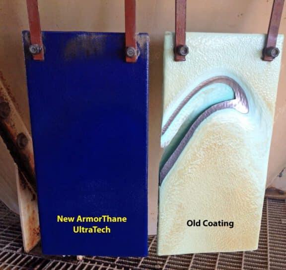 UltraTech Abrasion Test Panels in Fertilizer Plant