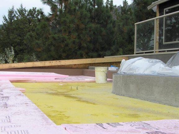 Underlayment waterproofing concrete