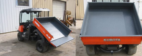 Utility vehicle with ArmorThane bed liner