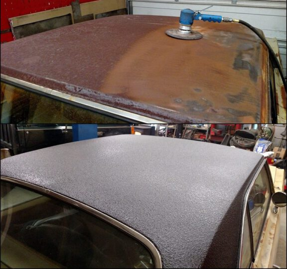 Vinyl looking roof with ArmorThane coating