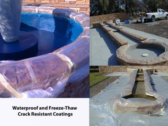 Water feature sealing