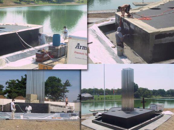Water fountain memorial