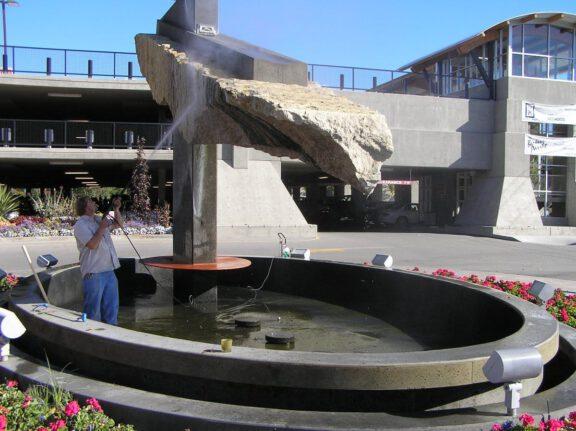 Water fountain refinishing