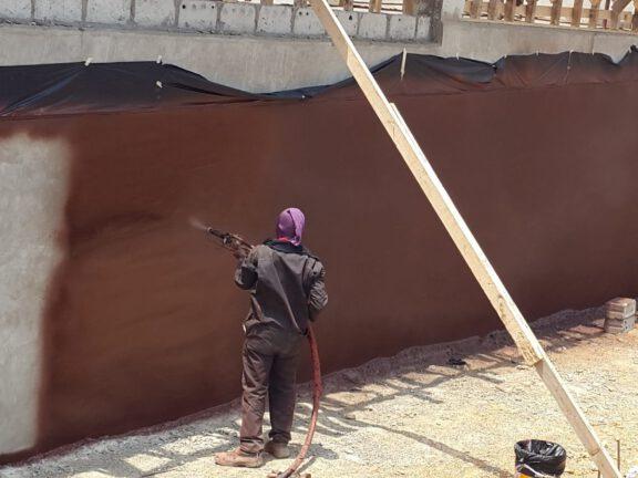 Waterproofing building foundation