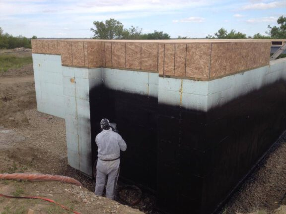 Waterproofing home foundation